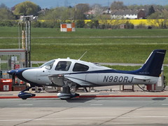 N980RJ Cirrus SR22 (Aircaft @ Gloucestershire Airport By James) Tags: james airport gloucestershire lloyds cirrus sr22 egbj n980rj