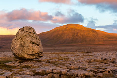 The Pedestal (Angus Goosey Cogan) Tags: sunset mountains landscape rocks hills limestonepavement inglebrough chapelledale