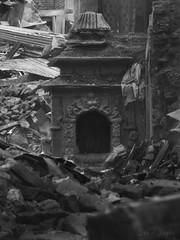 Broken Frames (Daniel Raghu) Tags: travel nepal blackandwhite monochrome temple natural rubble travelphotography justimagen danielraghu