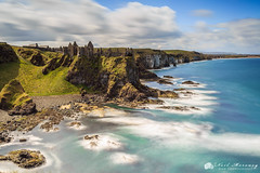 Dunluce Castle (MNM Photography 2014) Tags: longexposure sea seascape castle clouds canon coast ruins rocks waves shoreline ruin cliffs coastal shore northernireland medival cloudysky ulster seaarch countyantrim northcoast niea whiterocks dunluce dunlucecastle graduatedfilter canon1740f4lusm leefilters canon5dmkiii leebigstopper dnlibhse northernirelandenviromentagency