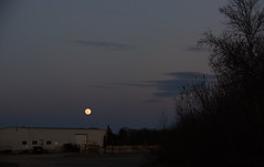 moon (heather morris photography) Tags: sky moon building clouds evening industrial moonrise