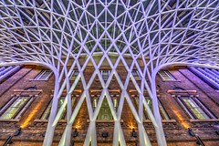 Modern King's Cross (Tom Shearsmith Photography) Tags: lighting london station architecture modern train photoshop underground photography arch cross centre tube kings preserved kingscross tone hdr tonemap kgx