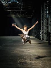 Dance Project (fehlfarben_bine) Tags: shadow woman berlin dance naturallight kristin warehouse passion splitjump danceproject nikondf