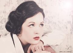 Ich weiß es wird einmal ... (pedschwork.fotodesign) Tags: portrait woman beauty face vintage leander zarah 20er