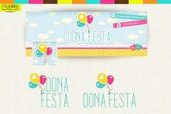 dona festa (Solangedanielle) Tags: visual logotipo facebook carimbo identidade mascotes empreendedores criativos artedocartodevisita