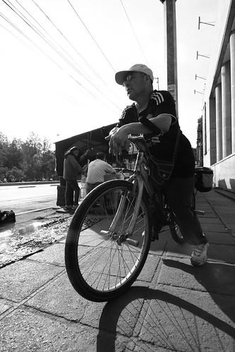 biking the sidewalks