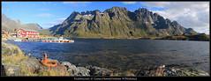 Sildpollnes et Langstrandtindan (HimalAnda) Tags: panorama mountain water norway montagne norge eau pano panoramic fjord lofoten panoramique norvège nordland canoneos70d eos70d stéphanebon