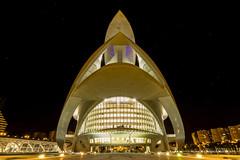 Spacecraft / La nave (Hornisterol) Tags: valencia arquitectura ciudad enero estrellas nocturna artes ciencias 2016 futurista manueljrrega