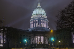 Capital Building In Fog/Rain (UH82NVMy Photography) Tags: building canon control capital sigma hdr promote promotecontrol wisconsincaptialbuilding uh82nvmyphotography