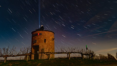Buddy trails (MAGIC PASSION * PHOTOGRAPHY *) Tags: light art bulb night germany stars photography sony magic creative passion stacking alpha mode startrails reben wein langzeitbelichtung a57 weintor lzb sonyalpha ledlenser winzerturm magicpassionphotography