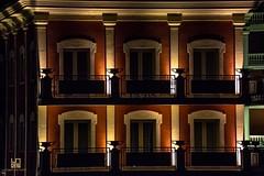 PERFEZIONE (Lace1952) Tags: hotel italia piemonte luci rosso notte lagomaggiore balcone finestre colre vasi persiane baveno nikkor18300vr nikond7100