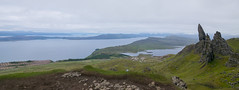 Panorama with Old Man of Storr (Igor Sorokin) Tags: uk travel lake mountains water clouds landscape scotland nikon rocks europe view outdoor north scenic hills tokina northern distant oldmanofstorr 1116mm d5300