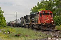 Kickin' It Old School (Joseph Bishop) Tags: railroad ontario cn train track tracks rail railway trains rails railfan emd sd402 5366 copetown cndundassubdivision