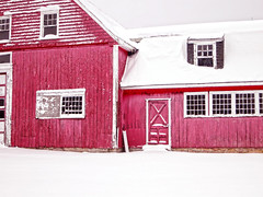 (katiegodowski_photography) Tags: red snow color abandoned amazing flickr outdoor connecticut barns creative amateur amateurs