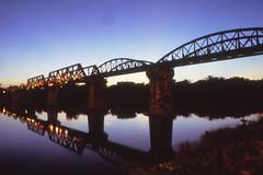 Pictures of a postcard - Thailand Kanchanaburi - Bridge on the River Kwai (railasia) Tags: bridge thailand infra nineties kanchanaburi srt burmarailway metergauge thamakham