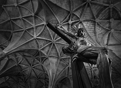 Imaginary friends (toni knows best) Tags: blackandwhite church lisbon religion jesus crucified
