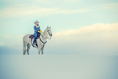 Cowgirl Heaven (www.toddklassy.com) Tags: county blue winter sky horse woman usa white snow cold cute nature girl beautiful beauty animal horizontal female clouds standing pose landscape four still montana bozeman heaven day mt cloudy outdoor snowy horizon seasonal profile young posing overcast crest riding teen attractive flannel quarter copyspace cowgirl sideview cowboyhat rider idyllic heavenly horseback hilltop saddle equine tack lookingaway 20s corners caucasian gallatin westernwear rding