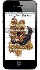 The Lone Beader's Free iPhone App (The Lone Beader) Tags: dogs yorkie beads amazon handmade jewelry itunes etsy yorkshireterrier beaded beadwork iphone beadembroidery beadingpattern