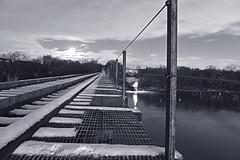 DSC_8641B&W (FirehawkNS) Tags: bridge snow river nc traintracks tracks northcarolina fullmoon moonrise snowday trainbridge moonshine movingclouds mountholly moonandclouds catawbariver gastoncounty winterinnc