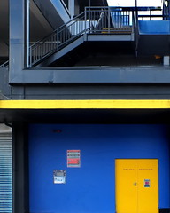 lite sverige (Harry Halibut) Tags: blue yellow stairs fire doors steel south sheffield yorkshire steps images exit allrightsreserved banisters sheffieldbuildings baustrade colourbysoftwarelaziness imagesofsheffield sheffieldarchitecture 2016andrewpettigrew sheff1602070001
