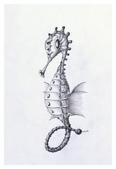 Queen seahorse (Karwik) Tags: pencil pencils seahorse drawing queen crayons seahorses konik owek rysunek morski olowek