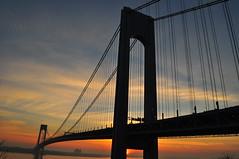 VerrazanoNarrows Bridge at dawn (Triborough) Tags: ny nyc newyork newyorkcity richmondcounty statenisland fortwadsworth park nationalpark nps nationalparkservice vnb verrazanonarrowsbridge