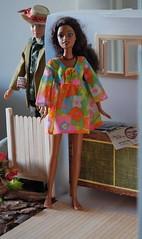 Birthday Surprise (Emily1957) Tags: light fashion nikon ken barbie kitlens naturallight mattel nikond40 vintageken flowerwower paintedhairken ifemelu vintagekendreamboat