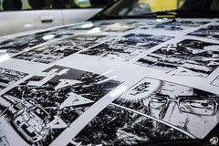 Honda CRX Del Sol (N.D pictures) Tags: park black sol japan night del honda market d parking crx domestic cover bd meet initial capot jdm bande covering rasso rassemblement dessin