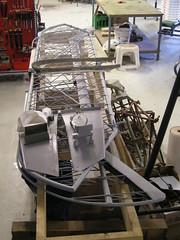 Arado Ar66C  WrkNr 1034 (0767)  Restoration    Airframe (flyhistorie) Tags: nsgr8 nachtschlachtgruppe8 restoration bardufoss luftwaffe flymuseum sola ar66 arado