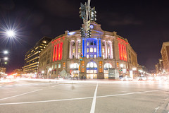 South Station at Night (Jemlnlx) Tags: city station boston night hub train canon ma eos is long exposure downtown metro zoom mark massachusetts south iii tripod wide busy transit shutter l 5d intersection usm mass ef f4 gitzo q3 traveler 1635mm markins 1541t