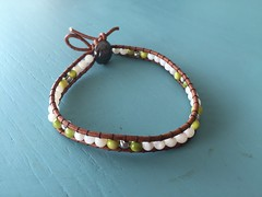 I made this anklet today (alexandria.jackman) Tags: leather beads wrapped wrap jewelry made noedit bead anklet imadeit nofilter anklets madeit wrappedbracelet wrappedanklet
