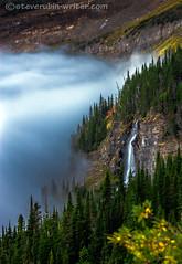 Waterfall Inversion (steve rubin-writer) Tags: park cloud water wow us montana shot super best glacier national inversion supershot