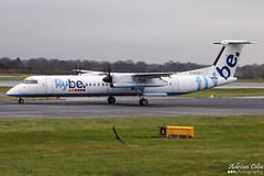FlyBe --- De Havilland Canada DHC-8-402 Q400 --- G-ECOA (Drinu C) Tags: man plane aircraft aviation sony dsc egcc flybe q400 dehavillandcanada dhc8402 gecoa hx100v adrianciliaphotography