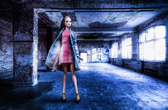 Warehouse Photoshoot (Rebecca in FL) Tags: old windows sunlight building brick abandoned composite concrete doll photoshoot nimbus empty grunge columns ruin poland structure dirty warehouse destroyed hdr numina fashionbjd