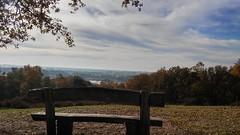 (KatjaLinders) Tags: trees sky cloud clouds river bench bomen view outdoor wolken bank serene uitzicht bankje rivier mookerheide cuijk mookerhei
