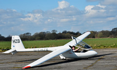 skies the limit (littlestschnauzer) Tags: uk club spring aircraft yorkshire flight landing burn gliding glider runway landed pilot airfield 2016