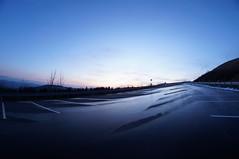 wet (maria_maeusels) Tags: street blue winter sunset sky sun mountain distortion berg rain landscape high hessen himmel 8 fisheye mm blau parkplatz landschaft sonne fulda regen wasserkuppe nass weitwinkel hoch objektiv verzerrung strase
