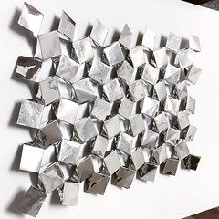 (mike.tanis) Tags: art geometric architecture silver design origami squares metallic kirigami auxetic