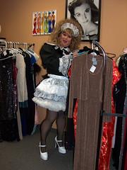 Shopping 2 (jensatin4242) Tags: sissy transvestite taffeta maid crossdresser petticoat sissymaid jensatin