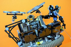 Decibelle_23 (Shadowgear6335) Tags: orange radio robot factory lego good technic hero bionicle mech moc shadowgear6335 bionicle2015