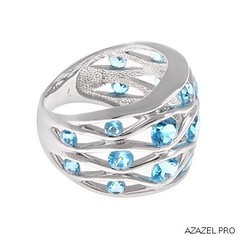 Ring with Topaz (Azazel.PRO) Tags: woman art fashion square design handmade style jewelry ring diamond jewellery squareformat exclusive topaz gemstone  bijouterie             iphoneography    instagramapp uploaded:by=instagram
