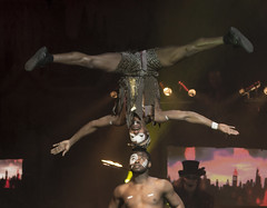 Voodoo Warriors - Headstand (MattDeane) Tags: circus preston warriors voodoo carnevil horrors circusofhorrors chartertheatre