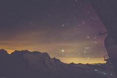 starry sky room view from Kulmhotel Gornergrat (iSteven-ch) Tags: longexposure travel sky alps night canon stars switzerland orion gornergrat zermatt wallis ch glowworm 6d ratrac eos6d 3100kulmhotelgornergrat