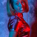 DSC_0306 Somali Lady Portrait Red Chinese Silk Mandarin Dress  Shoreditch Studio London