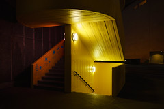 Study in yellow and red on Southbank (andyc246) Tags: london architecture southbank royalfestivalhall