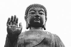The Big Buddha (Linus Wrn) Tags: china blackandwhite bw monochrome statue hongkong blackwhite asia buddha buddhist swastika buddhism lantau ngongping tiantanbuddha