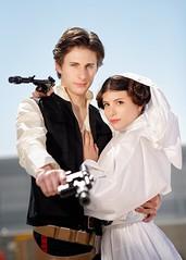 Star Wars (Sandman-AC) Tags: starwars cosplay princessleia leia hansolo romics