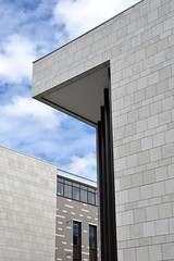 Guildhall Square (nickitson) Tags: building geometric lines stone architecture modern construction angle geometry southampton angular guildhallsquare