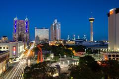 San Antonio, TX (kinchloe) Tags: skyline sanantonio buildings downtown texas tx bluehour
