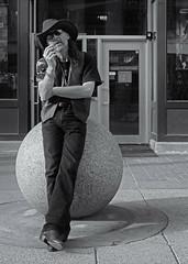 Downtown Cowboy (Sherlock77 (James)) Tags: people man calgary downtown streetportrait cowboyhat stephenavenue